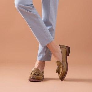 Image 4 - BeauToday – Mocassins à bout pointu en cuir véritable pour femme, chaussures en grandes tailles, chaussures à enfiler, peau de mouton, chaussures plates et décontractées, fait à la main, 27075
