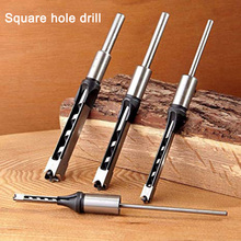JUSTINLAU 1Pcs Woodworking Tools Twist Square Hole Drill Bits Auger Mortising Chisel Extended Saw For Wood Carving DIY Furniture
