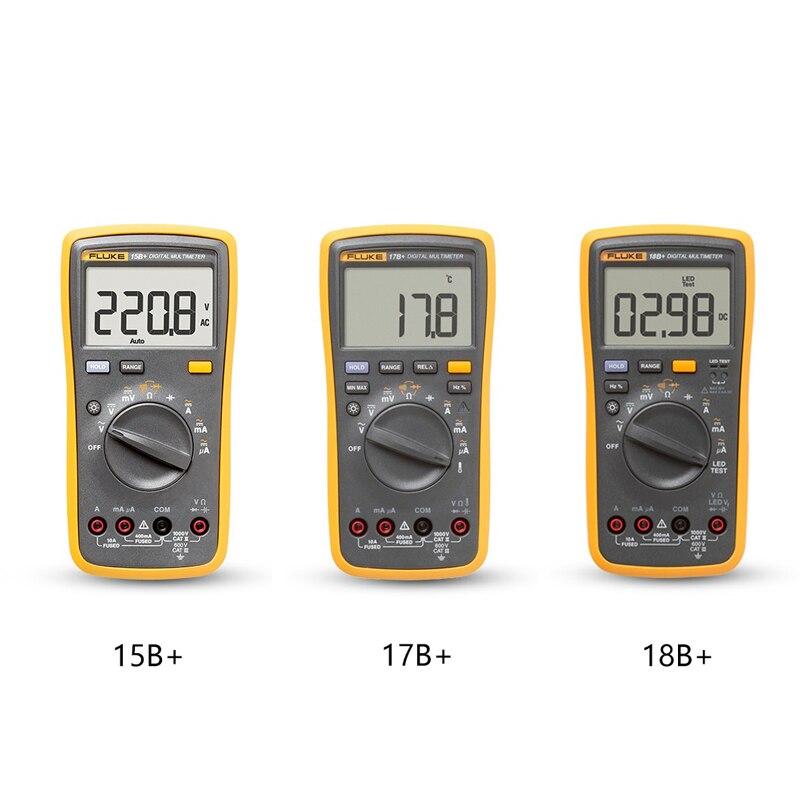 Multimètre numérique Fluke F15B +  17B +  18B + électricien de haute précision compteur universel automatique tension et courant