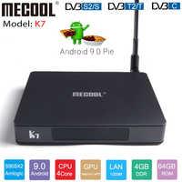 2019 MECOOL K7 Android 9.0 TV Box DVB-T2 DVB-S2 DVB-C Set Top Box Amlogic S905X2 4GB 64GB 2.4G 5G WiFi BT4.1 4K Media Player