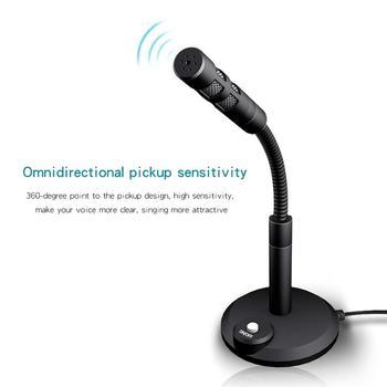 Microfono wysokiej jakości mikrofon komputerowy 360 ° swobodnie reguluje mikrofon kondensujący do studia nagrań na czacie Youtube tanie i dobre opinie SZKOSTON Blat Mikrofon pojemnościowy Pojedyncze Mikrofon Dookólna wireless Microphone for Computer Black Plastic Iron