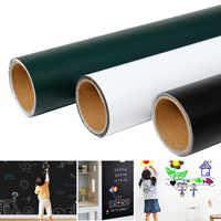 45/60/90CM x100cm Magnetic Blackboard Wall Stickers Children Chalk Drawing Note Board Office Whiteboard Green Self-adhesive