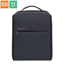 Xiaomi mochila original de poliéster de estilo urbano minimalista para hombre, para la escuela morral, para viajes de negocios, de gran capacidad