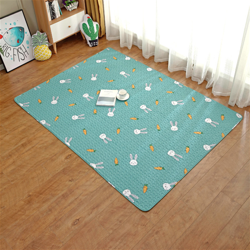 Baby Play Mats Kids Crawling Carpet Floor Rug Baby Bedding Rabbit Blanket Cotton Game Pad Children Room Decoration