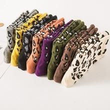 Hot Retro Leopard Print Cotton Blends Women Socks Fashion High Street Popular Stripe Spring Summer Cool Cozy