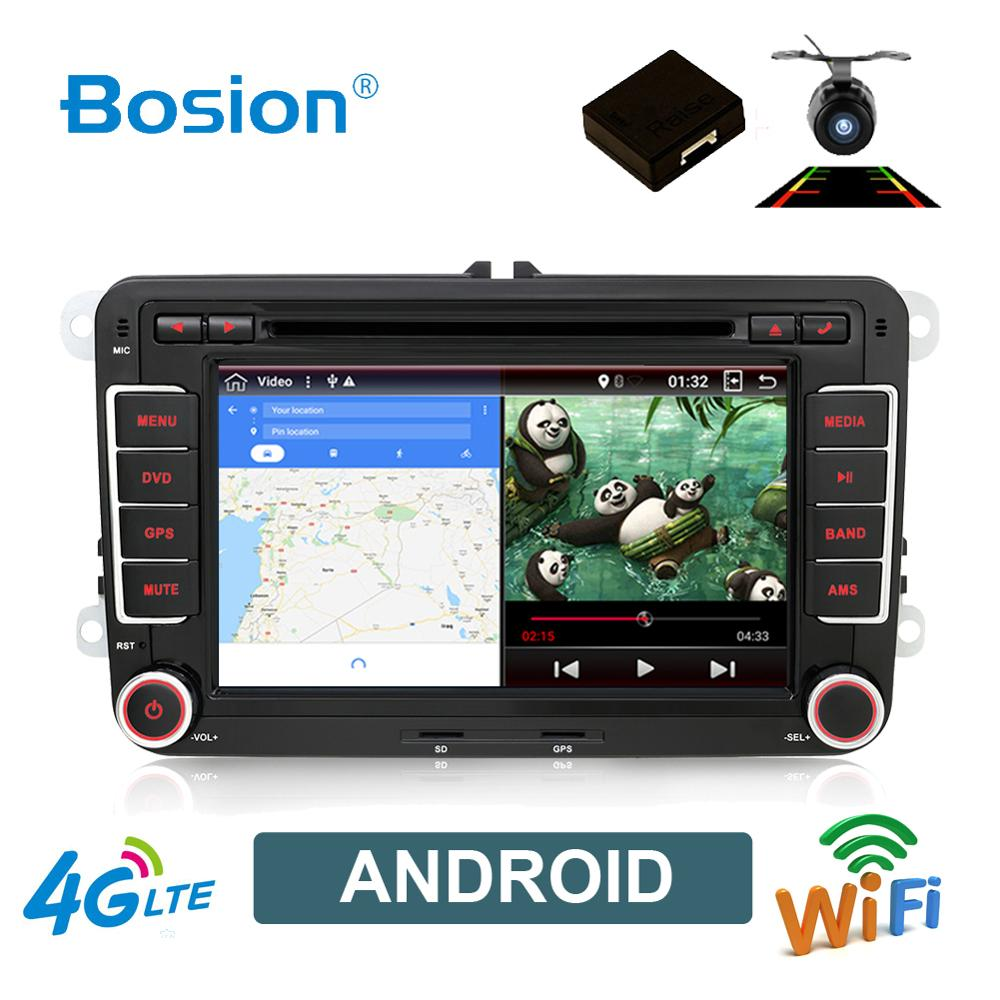 Bosion 2 Din Android 10.0 car dvd for Volkswagen Polo Tiguan <font><b>passat</b></font> <font><b>b6</b></font> cc fabia mirror link wifi Radio car Multimedia image
