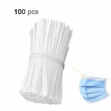 100Pcs Nose Bridge Strip White Plastic Nose Aluminum Wire/bar Inside Mask Nasal Bridge Strips Cable Wire Tie Clips For Mask DIY 100pcs white self locking cable tie high quality nylon fasten zip wire wrap strap 2 5x100mm 2 5x150mm plastic