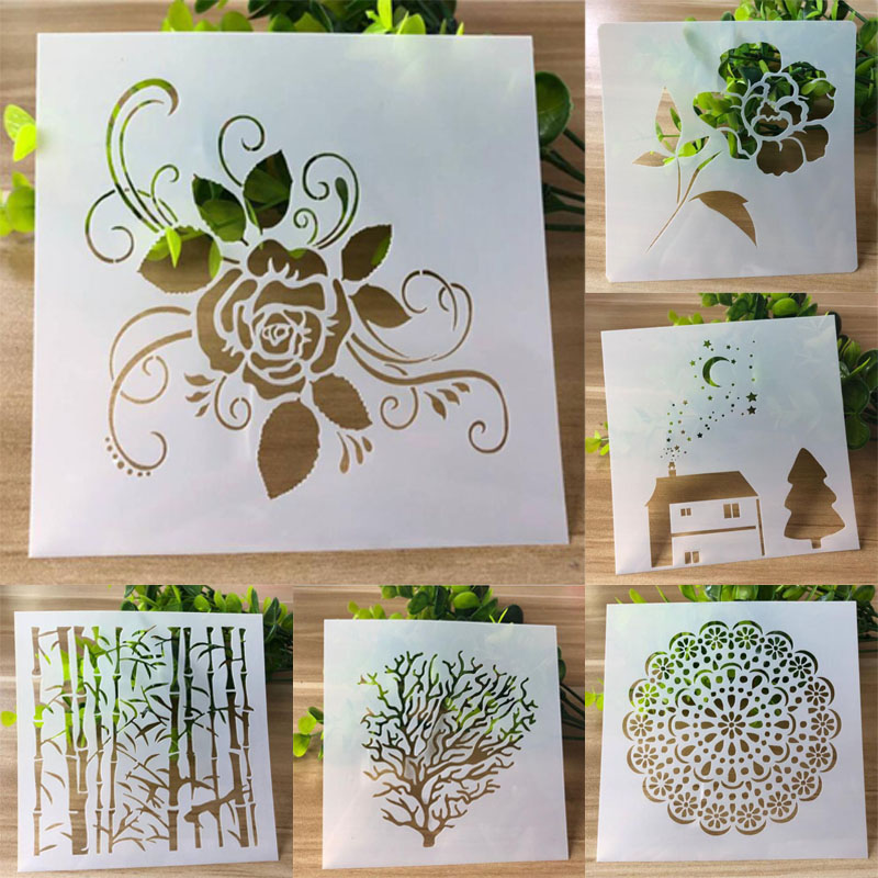 Stencils For Painting And Decoration Scrapbooking Photo Album Decorative Embossing Wall Stencil Bullet Journal Stencils