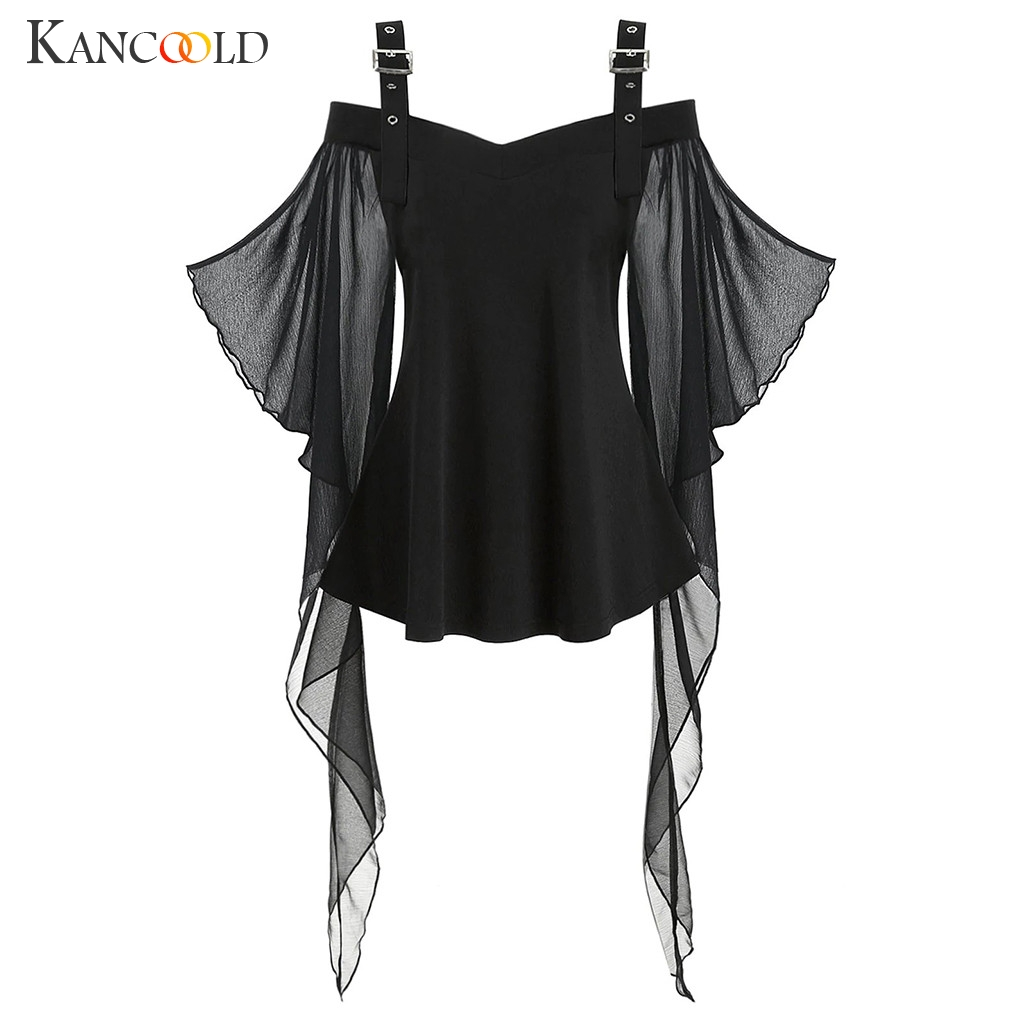 KANCOOLD  Adult Women Halloween Scary Skeleton Costume Demon Zombie Cosplay Outfit Sexy Cold Shoulder Garter Dress