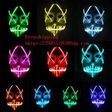 Halloween Luminous Full Face Covered Mask Glowing Voice Control Cosplay Party