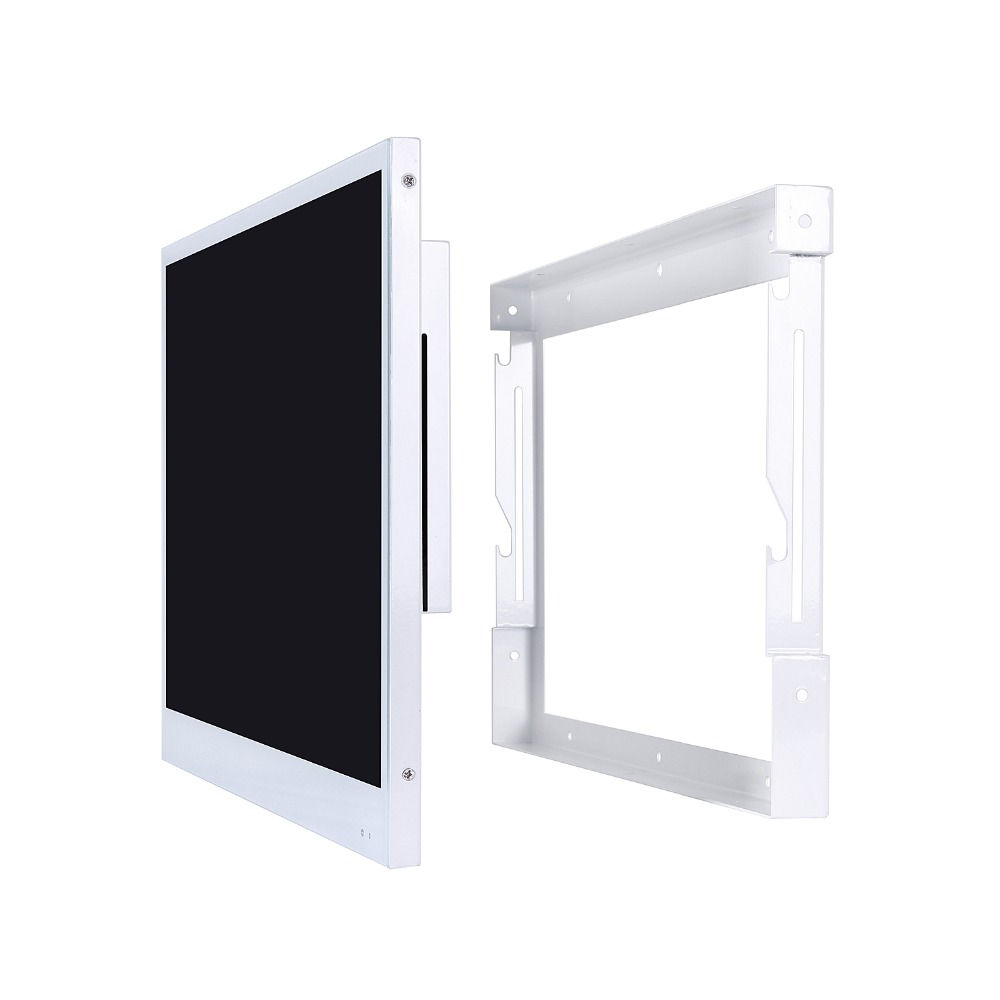 Hc9ec08c1d4d1414a9ef33661216504b6y Souria 22 inches White Finish Bathroom Luxury Smart LED TV Interior Water Proof Television Kitchen Appliance YouTube Available