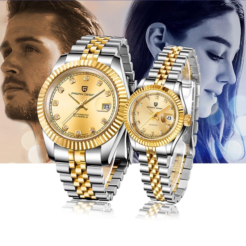 PAGANI Design Couple Watch Top Brand Luxury Automatic Mechanical Watch Business Waterproof Clock Relogio Masculino Couple Gift