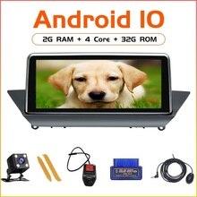 """ZLTOOPAI 10.25 """"Android 10 dla BMW X1 E84 CIC 2009 2015 GPS samochód z nawigacją Audio Radio odtwarzacz multimedialny jednostka główna Stereo"""