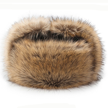 HT2666 Bomber Hat High Quality Russian Ushanka Windproof Thick Warm Winter Fur Earflap Trapper Cap Leather