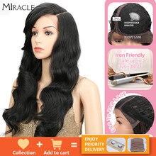 Miracle – perruque synthétique sans colle, 22 pouces, longue et ondulée, résistante à la chaleur, densité 180%, pour femmes noires