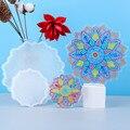 Суперкрасивая форма YZY для цветочной тарелки с вырезами сделай сам, сделай сам, большая форма для подставки из эпоксидной смолы, милые формы ...