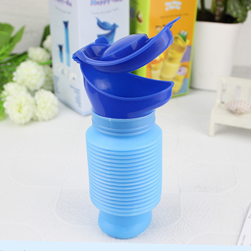 High Quality Male & Female Emergency Portable Urinal Go Out Travel Camping Car Toilet Pee Bottle 750ml Blue Urinals For 1 PCS