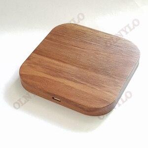 Image 5 - Carregador sem fio de madeira, carregador wireless com 5w para iphone 8 x samsung xiaomi 5v1a qi dispositivo de dispositivo