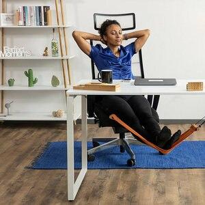 Portable desk footrest, leg rest hammock, make your work time very comfortable. Foot hammock(China)