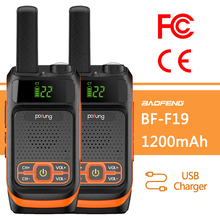 2 pièces BAOFENG Pofung F19 FRS/GMRS Radio longue portée Rechargeable avec 22CH voxbidirectionnel Radio Portable talkies walkie