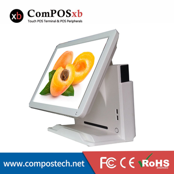 Good quality 15 inch pos all in one easy to operate pos system fashion white
