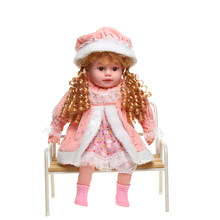 24inch silicone realistic girl doll boneca lol toys electronic dialogue doll soft toddler doll child playmate american girl doll(China)