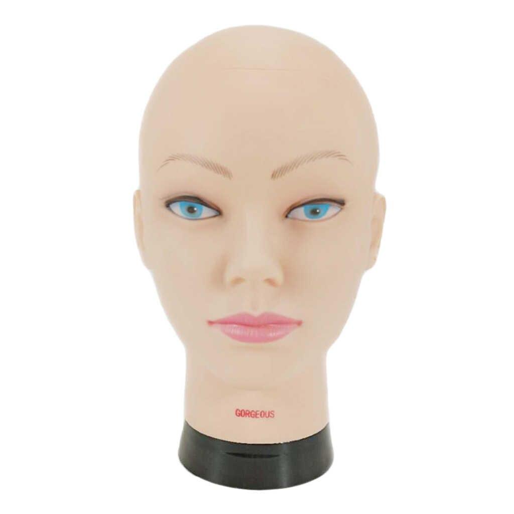 Cabeza de maniquí profesional para hacer estilo de exhibición peluca seca de 10,2 pulgadas cabeza para formación en peluquería