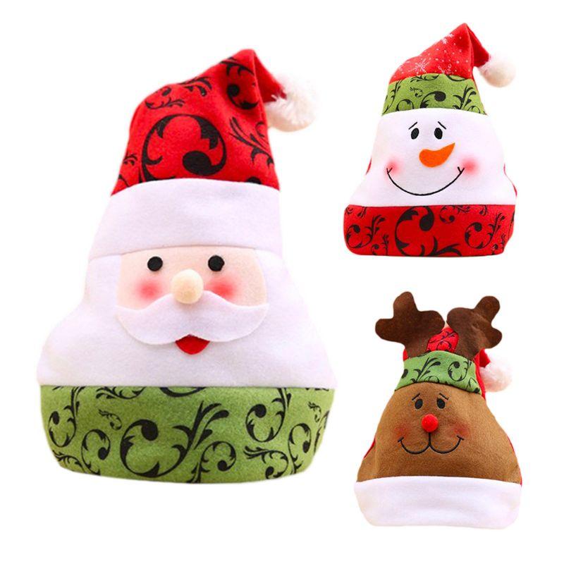Funny Home Decoration Christmas Hats Soft Univesral Santa Claus Elk Winter Cap J