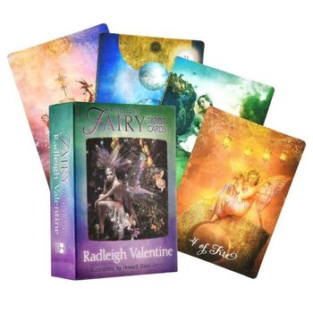 Fairy Tarot A 78-Card Deck and Guidebook Fate Divination Full English Family Party Board Game Oracle Playing Cards недорого