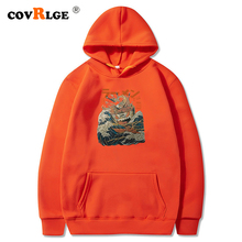 Quality Brand Men Pullover Hoodie Sweatshirts Spring Autumn Male Hip Hop Streetwear Mens River Monster Print MWW221