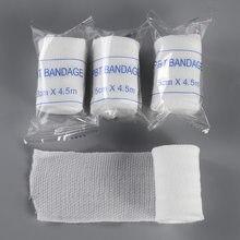 Baumwolle PBT Elastische Bandage Haut Freundliche Atmungs Erste Hilfe Kit Gaze Wunde Dressing Medizinische Pflege Notfall Pflege Verband