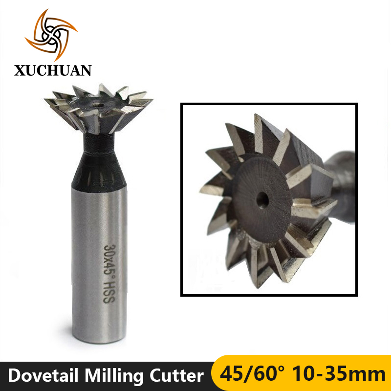 1pc New 16mm x 60° Degree HSS Dovetail Cutter End Mill 12mm Shank Free Shipping