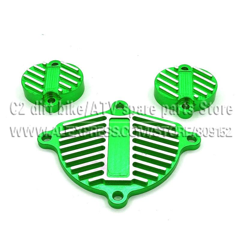 YinXiang 150cc YX 160cc двигатель с ЧПУ алюминиевые планки Комплект нарядный комплект(3 шт.) с прокладкой двигателя крышка головки блока цилиндров - Цвет: Green