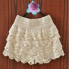 Girls Shorts Crochet Skirt Pants Elastic-Waist Sexy Summer Lace Slim Tops Skinny