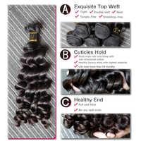 [Rosabeauty] pelo OneCut suelto rizado 8-30 32 pulgadas H brasileño Virgen sin procesar Color Natural paquetes de tejido de cabello humano 100%