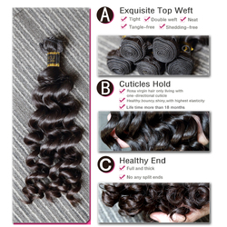Mélodie cheveux lâches bouclés 8-30 32inch H brésilien brut vierge non transformés cheveux couleur naturelle 100% cheveux humains tissage faisceaux