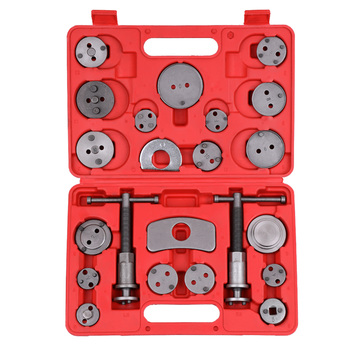 Hot 22pcs Auto Universal Disc Brake Caliper Car Wind Back Pad Piston Compressor Automobile Garage Repair Tool Kit Set with Case