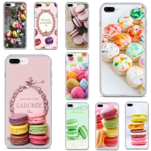 Soft Cover Bag For Huawei Y6 Y5 2019 For Xiaomi Redmi Note 4 5 6 7 8 Pro Mi A1 A2 A3 6X 5X 7A dessert ice cream laduree Macarons