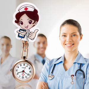 LANCARDO Lovely cartoon women men ladies nurse watches FOB Nurse Doctor Watch Hanging Female lady's hospital watches