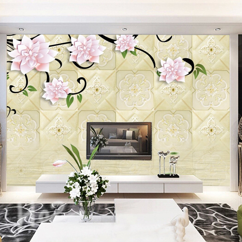3D Chinese Style Wallpaper Seamless TV Backdrop Wallpaper Film And Television Wallpaper Mural Living Room Bedroom Television Wal