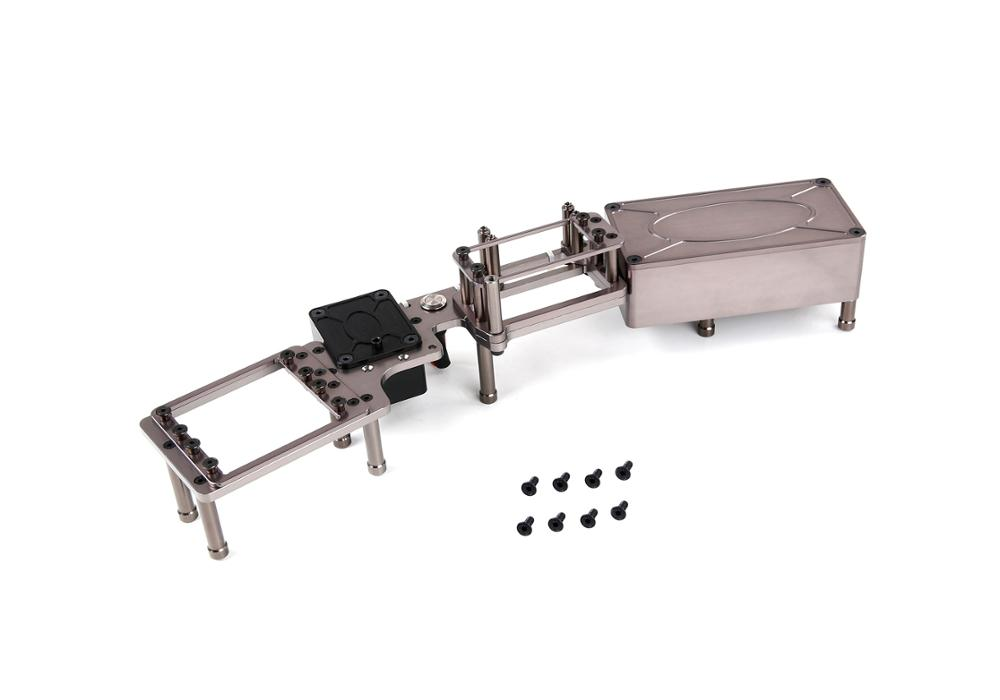 Cnc металлическое оборудование отсек Коробка для 1/5 Rovan ROFUN F5 MCD XS5 RR5 грузовик Rc автозапчасти