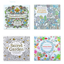 Coloring-Book School-Craft-Supply English-Edition Garden Adult for Kids Secret DIY Toys