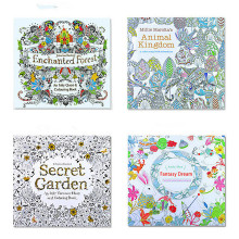 24pages 7.3 inch  English Edition coloring book for  kids  Secret Garden adult DIY toys  school craft supply