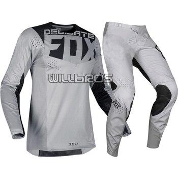 Automotive Delicate Fox Motocross Gear Set MTB Bike MX Off-road Motorcycle Suit
