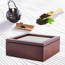 цена на Wooden Tea Box 9-Compartment Organizer Storage Case High Quality Tea Coffee Dried Flowers Protect Storage Boxes