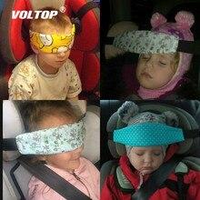 Siège de sécurité voiture enfant fixation de la tête ceinture de coton auxiliaire landau sangle sécurisée Doze bande pour bébé landau siège de sécurité enfant