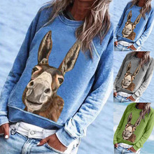 Donkey Cartoon S-3XL Women Fashion T shir t