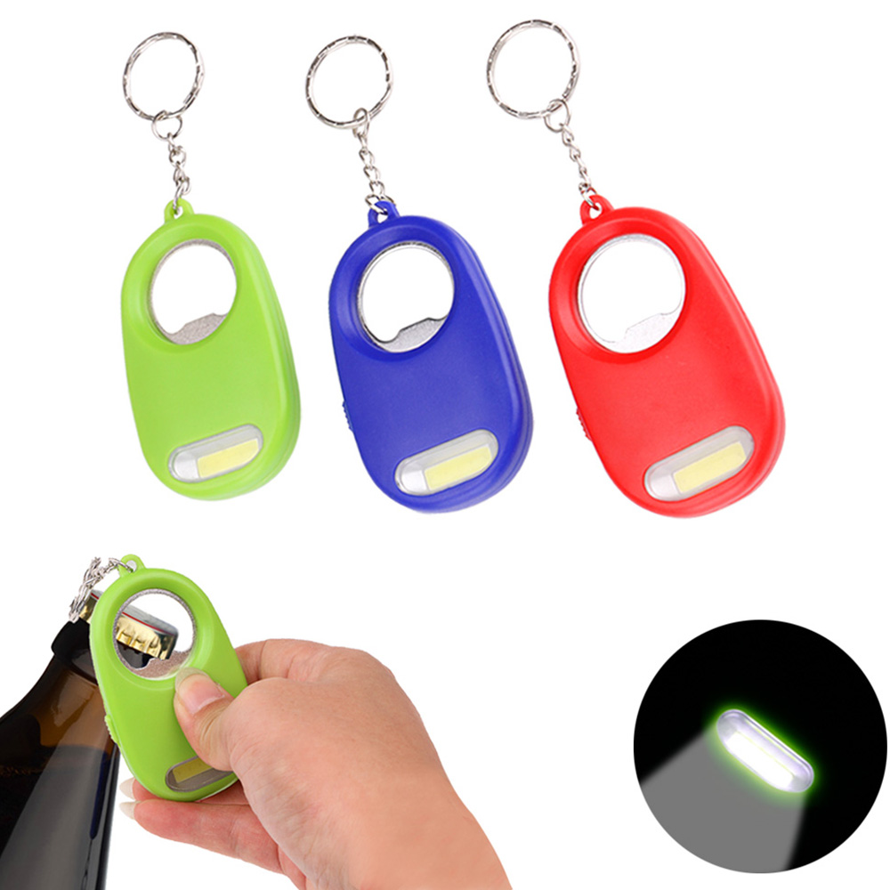 MAGNIFYING GLASS MAGNIFIER ZOOM  KEY LIGHT TORCH KEYRING LED KEYCHAIN READING