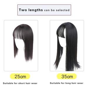 """Женский парик MUMUPI, натуральный цвет, длинные прямые волосы на клипсах, 10 """"14"""", высокая температура, синтетический парик на клипсах, женский парик"""