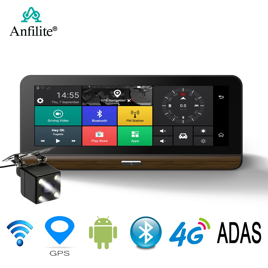 Anfilite Car-Dvr-Camera Navigation GPS Android Video-Recorder Dash-Cam Registrar 3G/4G title=